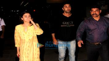 Alia Bhatt and Ranbir Kapoor snapped attending a screening of 'Padmaavat' in Lower Parel