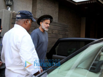 Anil Kapoor and Rhea Kapoor snapped in Juhu