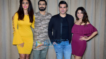 Arbaaz Khan and Manjari Fadnis snapped at the promotions of 'Nirdosh'
