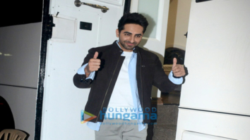 Ayushmann Khurrana snapped at Filmalaya Studio in Andheri