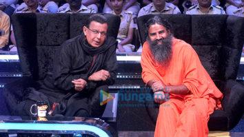Baba Ramdev snapped on sets of Dance India Dance