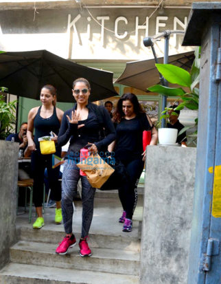 Bipasha Basu and Deanne Panday spotted at Kitchen Garden in Bandra