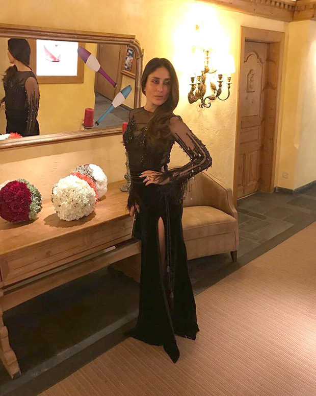 Daily Style Pill Kareena Kapoor Khan has a way with a black dress, nude lips and making an entrance for NYE 2018! (2)