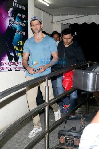 Hrithik Roshan and Kunal Kapoor spotted at PVR Juhu