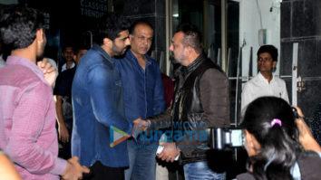 Sanjay Dutt, Arjun Kapoor and Sara Ali Khan spotted at Ashutosh Gowariker's office