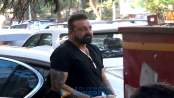 Sanjay Dutt spotted at Vishesh Films in Khar