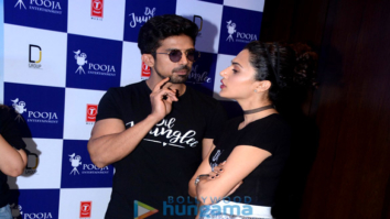 Saqib Saleem & Taapsee Pannu at the trailer launch of 'Dil Juunglee'