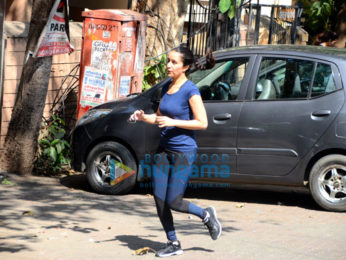 Shraddha Kapoor spotted jogging in Bandra