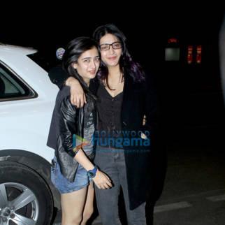 Shruti Haasan and Akshara Haasan spotted at the airport