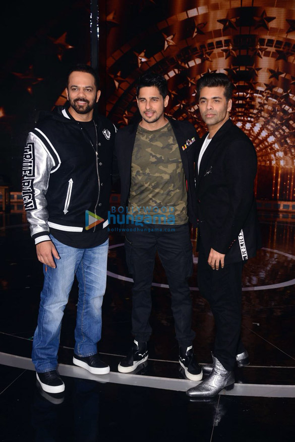 Sidharth Malhotra, Karan Johar and Rohit Shetty snapped on the sets of India's Next Superstars (1)