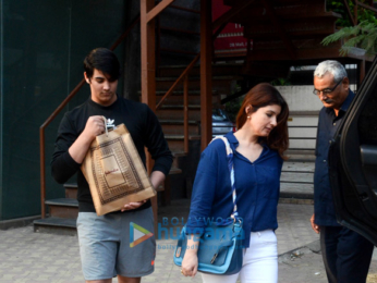 Twinkle Khanna and her son snapped outside FabIndia in Juhu