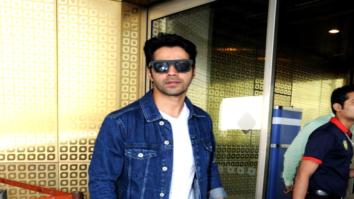 Varun Dhawan and Amit Gaur snapped at the airport