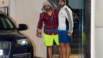 Varun Dhawan and Dino Morea snapped outside the gym