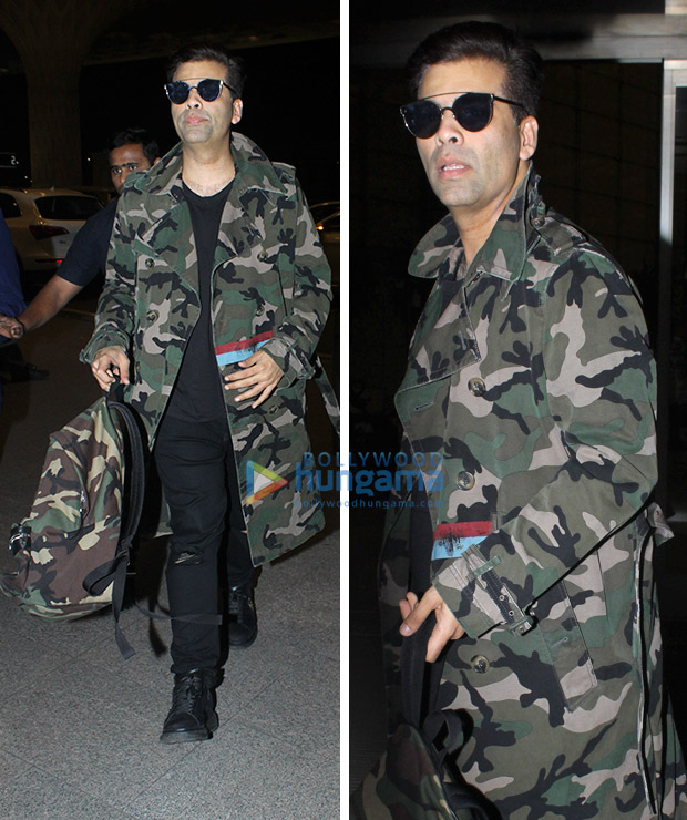 Weekly airport style AKangana Ranaut, Karan Johar and Hrithik Roshan make a case for the monochromes!