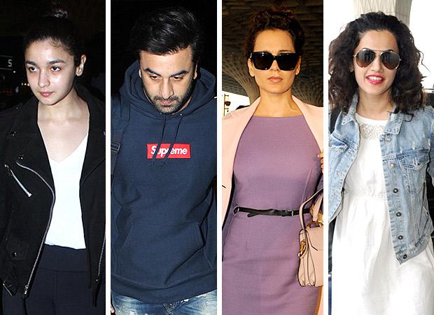 Weekly airport style Alia Bhatt, Ranaut, Karan Johar and Hrithik Roshan make a case for the monochromes!