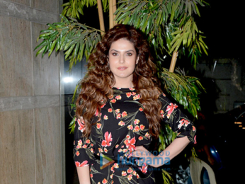 Zareen Khan snapped attending a screening of the film 1921