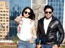 Zoya Afroz and Yuvraj Singh at a photoshoot