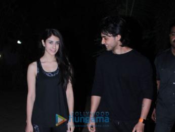 Aayush Sharma and Warina Hussain snapped at the dance class