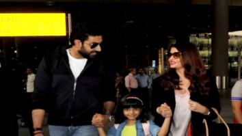 Abhishek Bachchan, Aishwarya Rai Bachchan and Aaradhya snapped at the airport