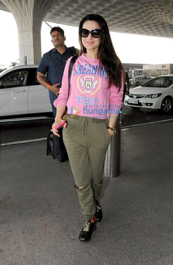 Ameesha Patel and Bhumi Pednekar snapped at the airport