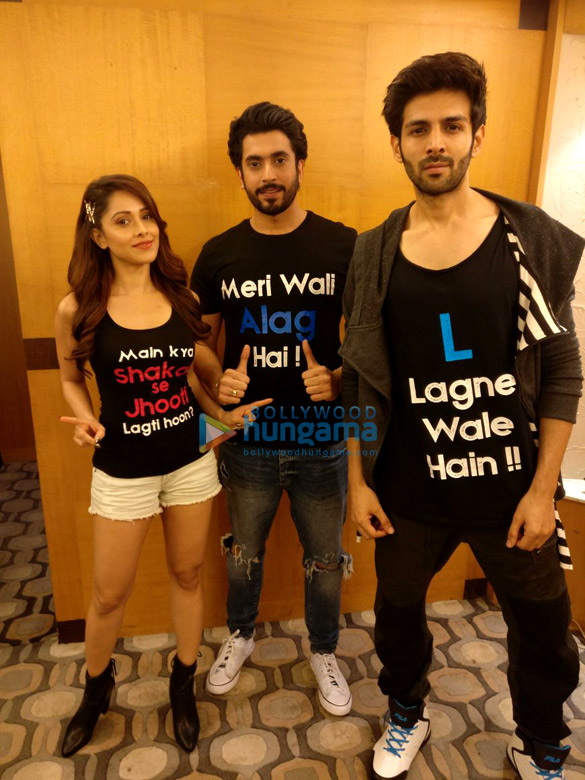 Cast of 'Sonu Ke Titu Ki Sweety' snapped during their promotions in Mumbai