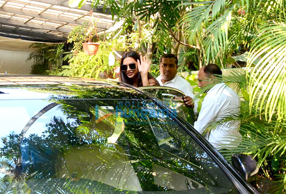 Deepika Padukone spotted after salon session in Bandra