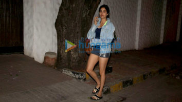 Janhvi Kapoor spotted at Sanjay Leela Bhansali's office in Juhu