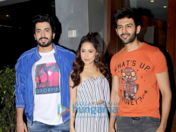 Kartik Aaryan, Sunny Singh Nijjar and Nushrat Bharucha spotted at Salt Water Cafe