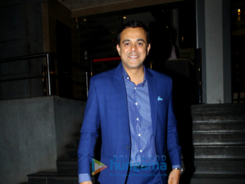 Madhuri Dixit attends special screening of Marathi movie Aapla Manus