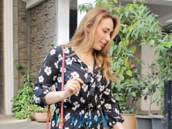Malaika Arora and Esha Gupta and Iulia Vantur snapped in Bandra