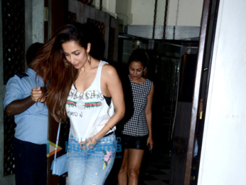 Malaika Arora and sister Amrita Arora snapped at Bastian in Bandra