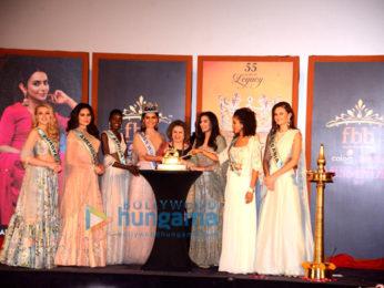 Manushi Chhillar graces the press conference for Femina Miss India 2018 at Carnival Cinemas Imax Wadala