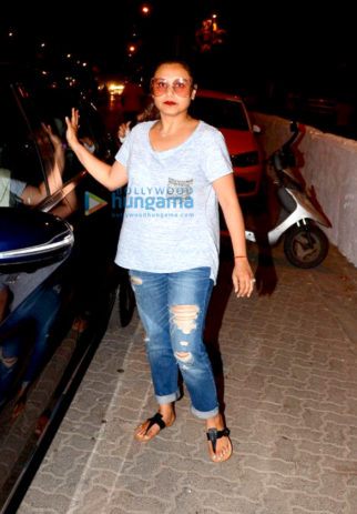 Rani Mukerji snapped at Bandra