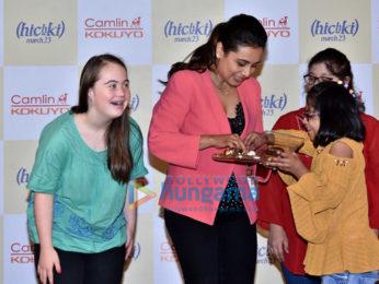 Rani Mukerji snapped promoting her film Hichki
