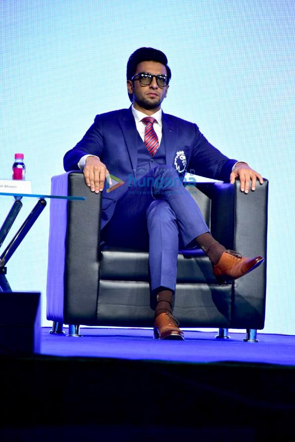 Ranveer Singh attends press conference of Premier League 2018