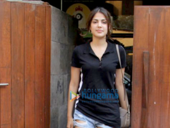 Rhea Chakraborty spotted at Indigo Cafe in Bandra