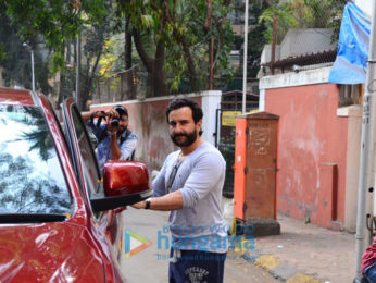Saif Ali khan spotted after recording session in Bandra