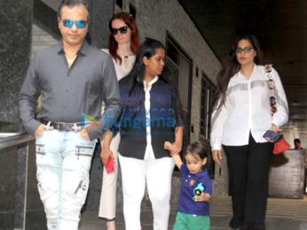 Salim Khan and family spotted at Hakassan