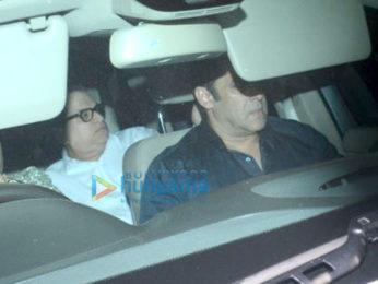 Salman Khan and Ramesh S Taurani snapped at Sridevi's residence