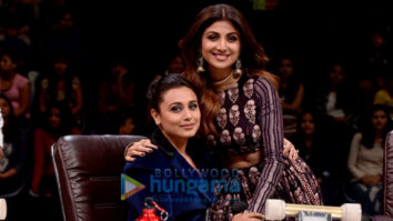 Shilpa Shetty and Rani Mukerji on the sets of Super Dancer 2