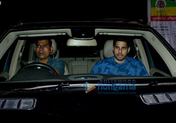 Sidharth Malhotra, Rakul Preet Singh, Bhushan Kumar and others attend the special screening of Aiyaary at YRF