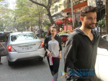 Soha Ali Khan and Kunal Khemu snapped at the Kitchen Garden in Bandra