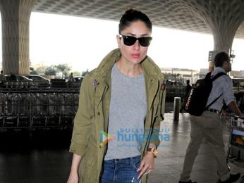 Sonakshi Sinha and Kareena Kapoor Khan snapped at the Mumbai airport