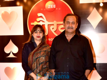 Sonali Kulkarni and Sharad Kelkar attend the Zee Gaurav awards
