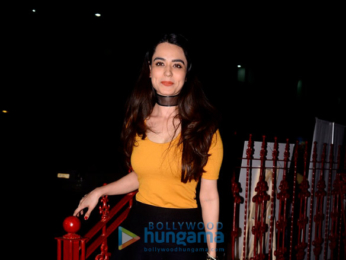 Soundarya Sharma snapped with friends south Mumbai