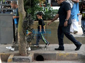Aamir Khan and Kiran Rao's son Azad Rao Khan snapped in Bandra