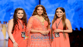 Bipasha Basu snapped walking the ramp for designer Karishma Deepa Sondhi at the Amazon Fashion Week