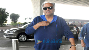 Boney Kapoor and Anil Kapoor snapped leaving for Haridwar
