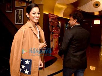 Banita Sandhu, Varun Dhawan and Shoojit Sircar grace the trailer launch of 'October'