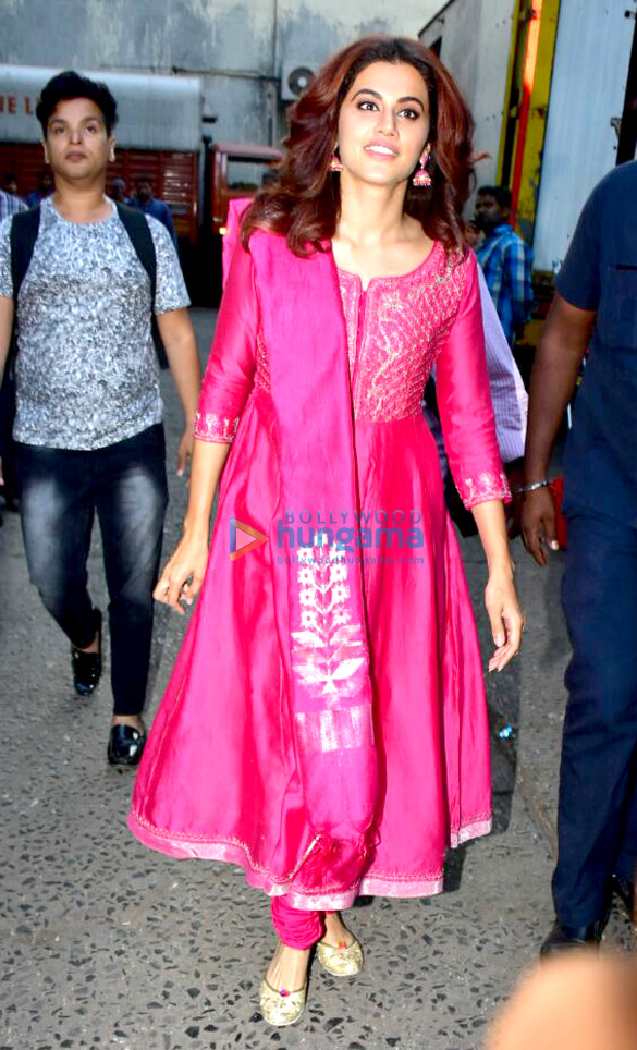 Celebs snapped while shooting at Filmistan